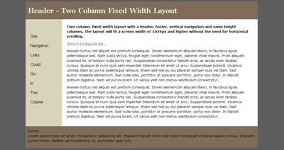 HTML5 Website Layouts @ Grains of Sand